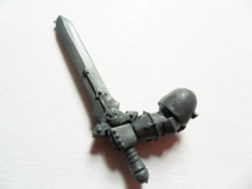 chaos space marine champion power sword